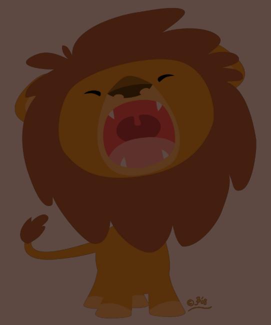 Cute Mighty  Roaring Lion Cartoon Women T-shirt