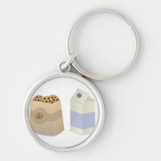 Cute Milk and Cookies Keychain