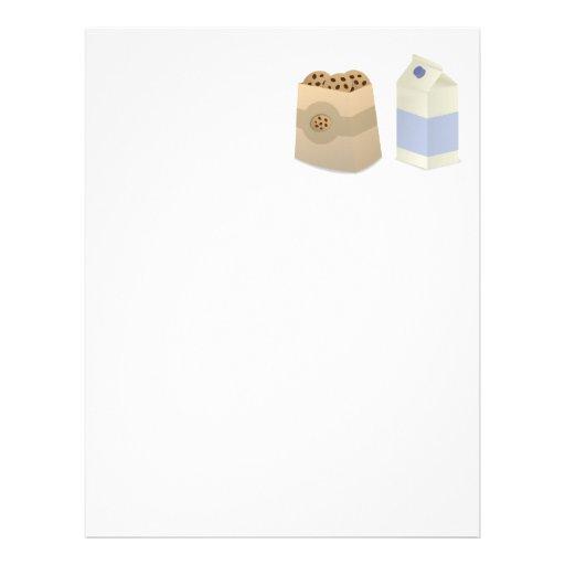 Cute Milk and Cookies Letterhead