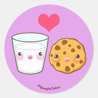 Cute Milk & Cookie Love Sticker