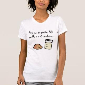 Cute Milk & Cookies Customizable Shirt
