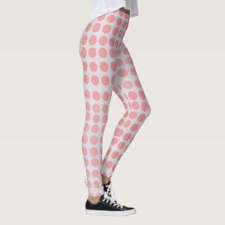 Cute millenial pink polka dot leggings