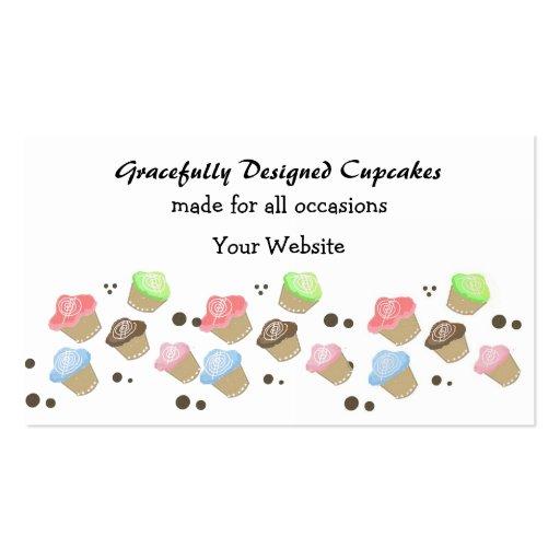 Cute Mini Cupcake Design Business Cards from Zazzle.