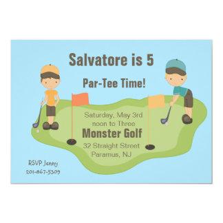 Cute Miniature Golf Boys Party Invitation