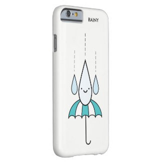 Cute Minimal Rainy Day iPhone 6/6s Case