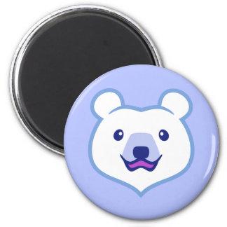 Cute Minimalist Cartoon Polar Bear 2 Inch Round Magnet