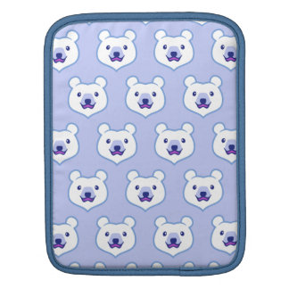 Cute Minimalist Cartoon Polar Bear iPad Sleeve