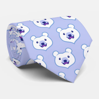 Cute Minimalist Cartoon Polar Bear Neck Tie