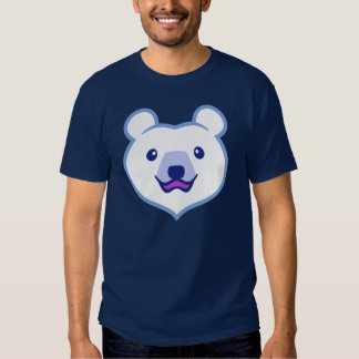Cute Minimalist Cartoon Polar Bear T Shirts