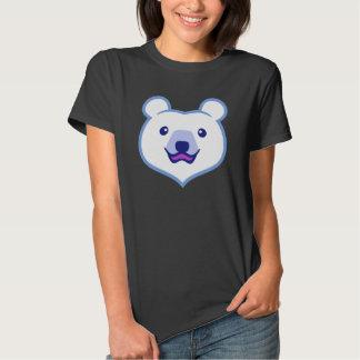 Cute Minimalist Cartoon Polar Bear Tshirt