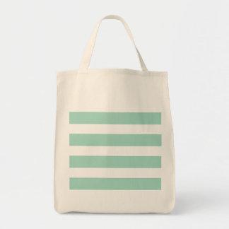 Cute Mint Blue stripe pattern Tote Bag