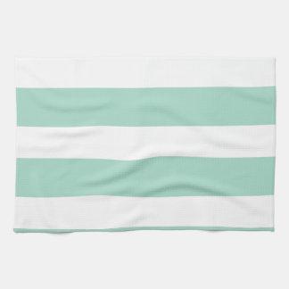 Cute Mint Blue stripe pattern Towel