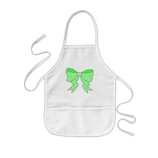 Cute Mint Bow Kids' Apron