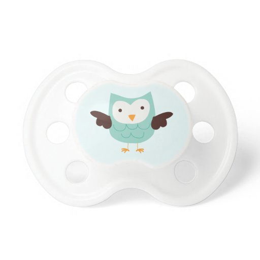 Cute Mint Green Baby Owl Pacifier