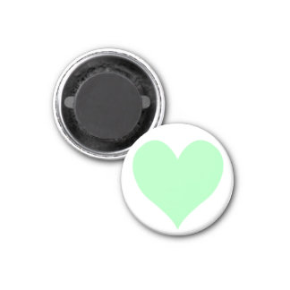Cute Mint Green Heart 1 Inch Round Magnet