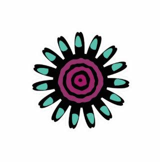 Cute Mint Purple Flower Magnet