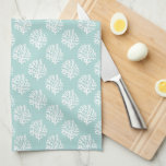 """Cute Mint Summer Pattern and Blue Monogram Towel<br><div class=""""desc"""">Personalized seamless pattern.</div>"""