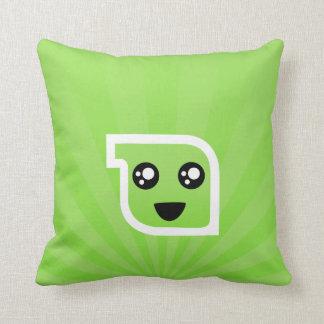 Cute Minty green burst background Throw Pillows