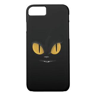 Cute Mischievous Black Cat with Fangs iPhone 8/7 Case
