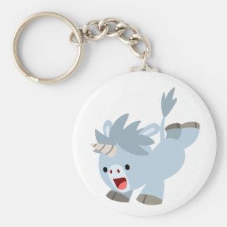 Cute Mischievous Cartoon Baby Unicorn Keychain