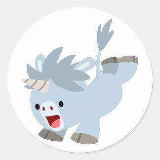 Cute Mischievous Cartoon Baby Unicorn Sticker