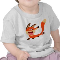 Cute Mischievous Cartoon Fox Baby T-Shirt