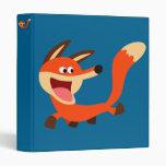 Cute Mischievous Cartoon Fox Binder
