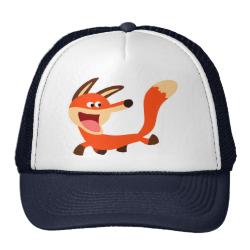 Cute Mischievous Cartoon Fox Hat