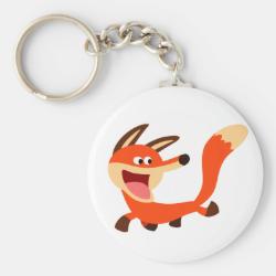 Cute Mischievous Cartoon Fox Keychain
