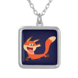 Cute Mischievous Cartoon Fox Necklace