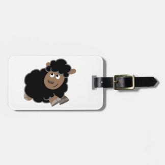Cute Mischievous Cartoon Sheep Luggage Tag