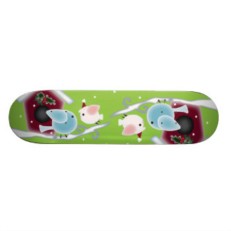 Cute mistletoe Love Birds Our First Christmas Skateboard Deck