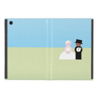 Cute mixed wedding couple covers for iPad mini