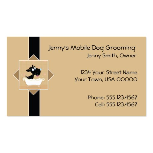 Cute mobile dog grooming business card zazzle for Dog grooming business cards