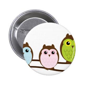 Cute Mod Chic Classy Destiny Owl 2 Inch Round Button