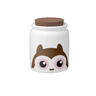 Cute Mod Chic Classy Destiny Owl Candy Dishes