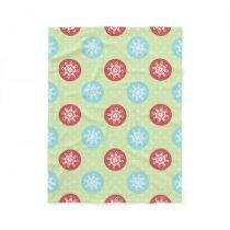 cute mod fun red green, snowflakes blanket