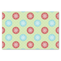 cute mod fun red green, snowflakes tissue paper
