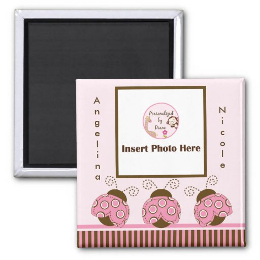 Cute Mod Ladybugs Photo Frame Magnet So Cute