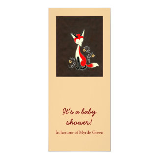 Cute Modern Artsy Fox Birth Announcement