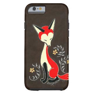 Cute Modern Artsy Fox Painting Tough iPhone 6 Case