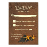 cute modern beach wedding starfish RSVP cards Custom Announcements