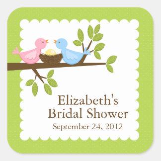 Cute Modern Bird Nest Neutral Baby Shower Sticker