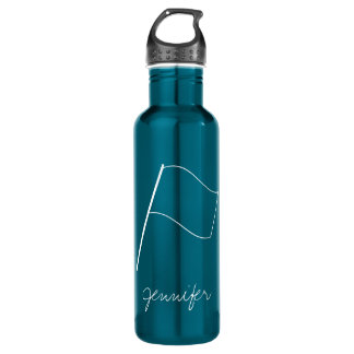 Cute Modern Colorguard Flag Stainless Steel Water Bottle