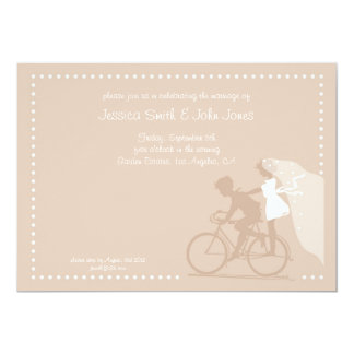 CUTE Modern Couple on Bicycle Save the Date Personalized Announcements