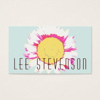 Cute Modern Floral Business Card
