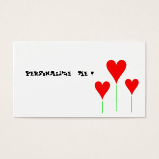 Cute Modern Floral Wedding Hearts/BusinessCardChic Business Card