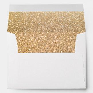 Cute Modern Gold Glitter Beauty Salon Envelope