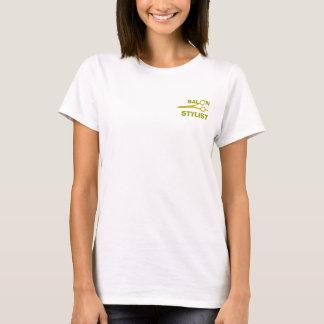 Cute Modern Hair Stylist Salon Scissors Typography T-Shirt