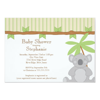 Cute Modern Koala Baby Shower Invitation